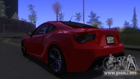 Scion FR-S 2013 Stock v2.0 para GTA San Andreas left