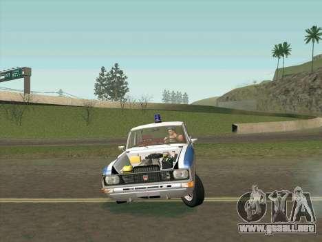 Moskvich 2140 Policía para GTA San Andreas interior