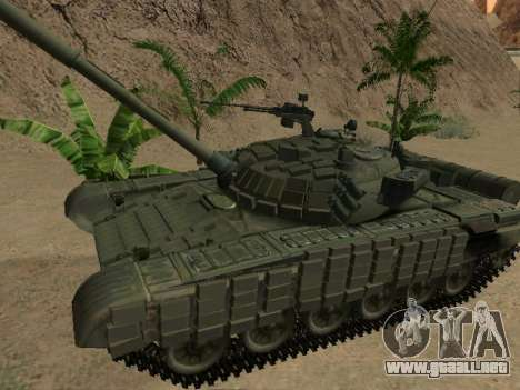 Tanque T-72B para GTA San Andreas left