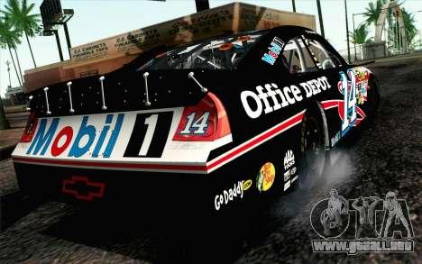 NASCAR Chevrolet Impala 2012 Plate Track para GTA San Andreas left
