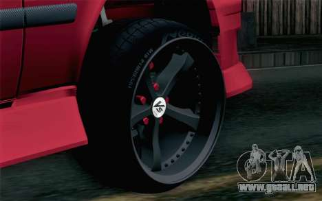 Toyota Chaser para GTA San Andreas vista posterior izquierda
