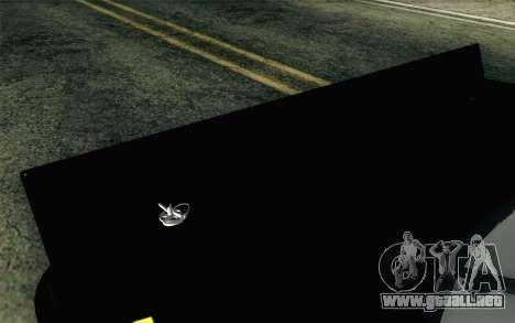 NASCAR Toyota Camry 2012 Short Track para GTA San Andreas vista hacia atrás