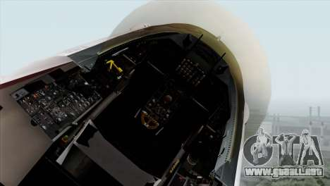 YF-16 Fighting Falcon para GTA San Andreas vista hacia atrás