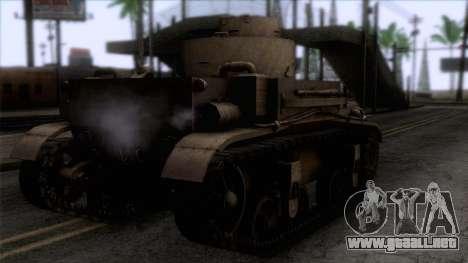 M2 Light Tank para GTA San Andreas left