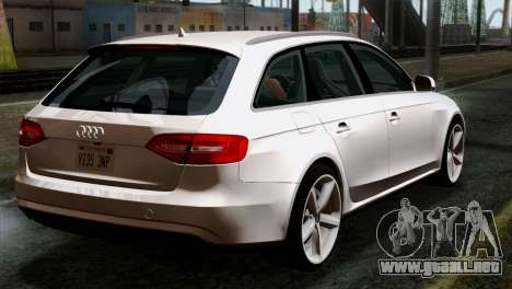 Audi A4 Avant 2013 para GTA San Andreas left