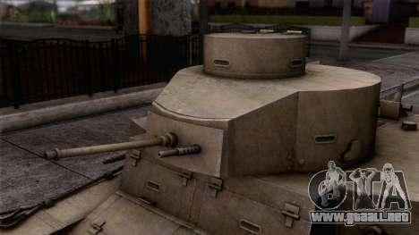 M2 Light Tank para GTA San Andreas vista posterior izquierda