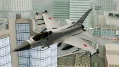 Mitsubishi F-2 Blue JASDF Skin para GTA San Andreas