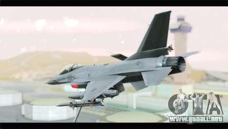 F-16A Republic of Korea Air Force para GTA San Andreas left