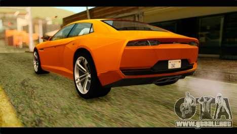 Lamborghini Estoque para GTA San Andreas left