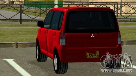 Mitsubishi eK Wagon para GTA San Andreas vista posterior izquierda