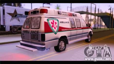 Ford E-350 Ambulance New Brunswick para GTA San Andreas left