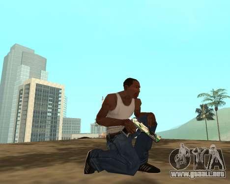 Green Pack Asiimov CS:GO para GTA San Andreas octavo de pantalla