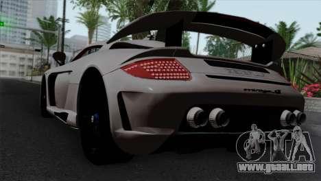 Gemballa Mirage GT v1 Windows Down para GTA San Andreas left