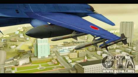Mitsubishi F-2A JASDF Blue v2.0 para la visión correcta GTA San Andreas