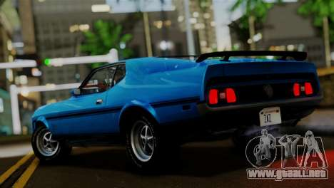 Ford Mustang Mach 1 429 Cobra Jet 1971 FIV АПП para GTA San Andreas left