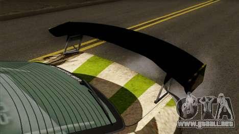 Nissan Silvia S15 Hunter para GTA San Andreas vista hacia atrás
