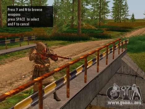 Soviética De Francotirador para GTA San Andreas segunda pantalla