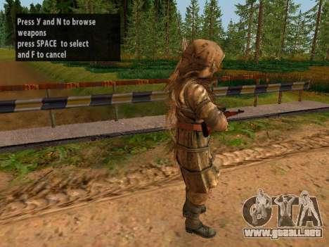 Soviética De Francotirador para GTA San Andreas tercera pantalla
