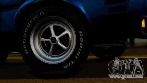 Ford Mustang Mach 1 429 Cobra Jet 1971 FIV АПП para la visión correcta GTA San Andreas