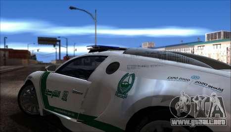 Bugatti Veyron 16.4 La Policía De Dubai 2009 para la visión correcta GTA San Andreas