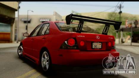 Lexus IS300 Tunable para el motor de GTA San Andreas