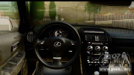 Lexus IS300 Tunable para visión interna GTA San Andreas