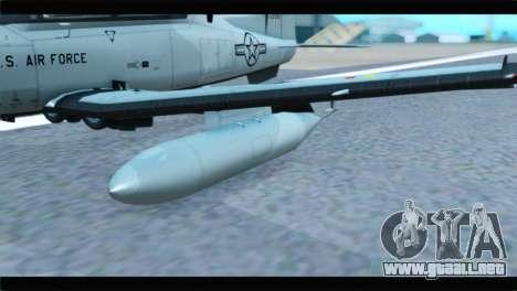 Beechcraft T-6 Texan II US Air Force 4 para la visión correcta GTA San Andreas