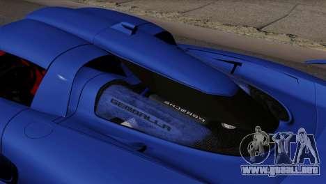 Gemballa Mirage GT v1 Windows Up para GTA San Andreas vista posterior izquierda