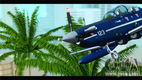 Beechcraft T-6 Texan II Royal Canadian Air Force para GTA San Andreas vista hacia atrás
