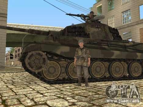 Panzerkampfwagen Tiger II para visión interna GTA San Andreas