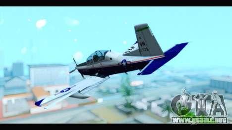 Beechcraft T-6 Texan II US Air Force 2 para GTA San Andreas left