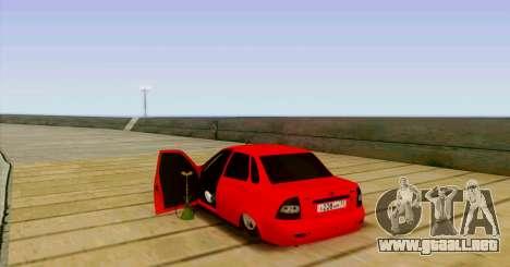 VAZ 2170 LA БПАN para GTA San Andreas vista hacia atrás