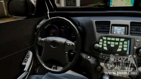 Toyota Hilux SW4 2014 ROTA para GTA San Andreas vista posterior izquierda