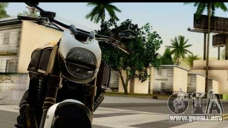 Ducati Diavel 2012 para GTA San Andreas vista hacia atrás