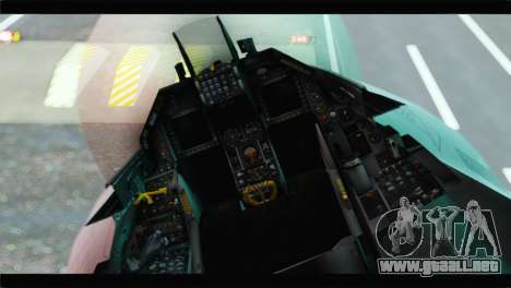F-16A Republic of Korea Air Force para GTA San Andreas vista hacia atrás