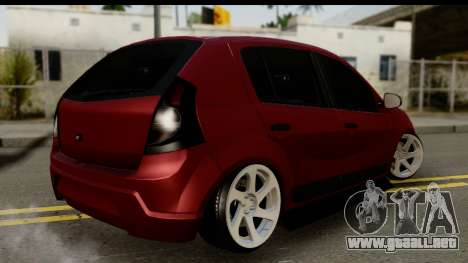 Dacia Sandero Low Tuning para GTA San Andreas left