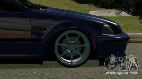 Honda Civic EK9 para GTA San Andreas vista hacia atrás