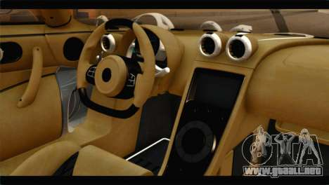 Koenigsegg Agera R 2011 Stock Version para la visión correcta GTA San Andreas