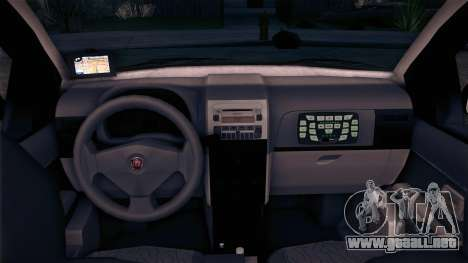 Fiat Siena 2011 para GTA San Andreas vista posterior izquierda