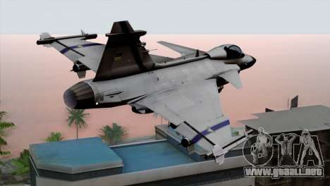 Saab 39 Gripen Custom Indigo Squadron para GTA San Andreas left