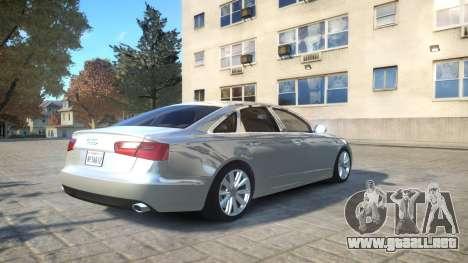 Audi A6 2012 v1.0 para GTA 4 vista hacia atrás