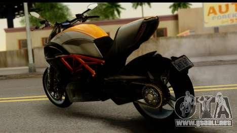 Ducati Diavel 2012 para GTA San Andreas left