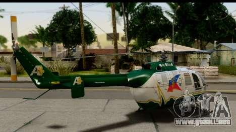MBB Bo-105 Air Med para GTA San Andreas left
