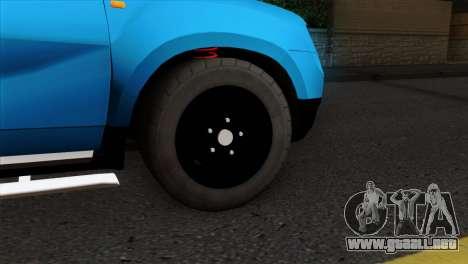 Dacia Duster Van para GTA San Andreas vista posterior izquierda