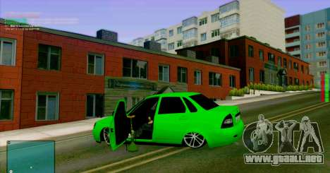 VAZ 2170 LA БПАN para visión interna GTA San Andreas