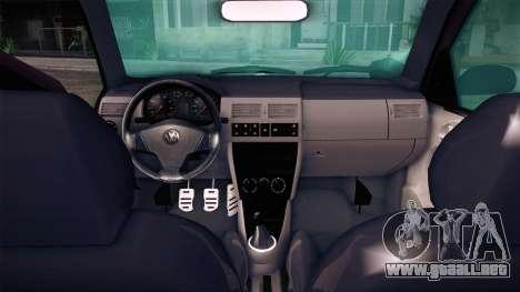 Volkswagen Gol GTI para GTA San Andreas vista posterior izquierda