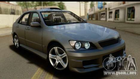 Lexus IS300 Tunable para la vista superior GTA San Andreas