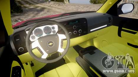 Chevrolet Silverado 1500 LT Extended Cab wheels1 para GTA 4 vista hacia atrás