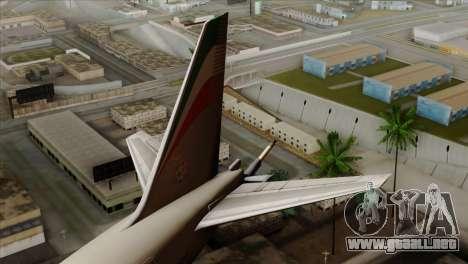 Boeing KC-767 Aeronautica Militare para GTA San Andreas vista posterior izquierda