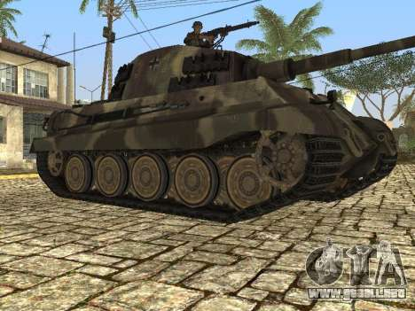 Panzerkampfwagen Tiger II para GTA San Andreas vista posterior izquierda